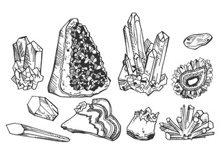 crystals and gem stones