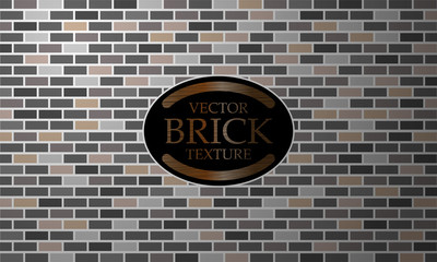Brick texture, Seamless Grey Wall Background, Grunge Text Banner, Minimalist style, Design for Poster