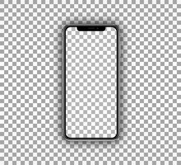 Smartphone Mockup - Realistic Mobile Device Template with Transparent Screen