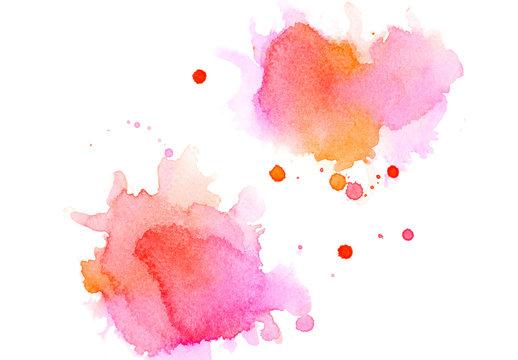 pink watercolor.
