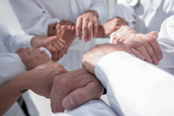 close up.background image of doctors standing together.