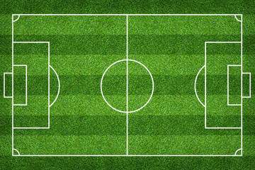 Football field or soccer field for background. Green lawn court for create game.
