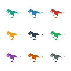 dinosaur icon white background
