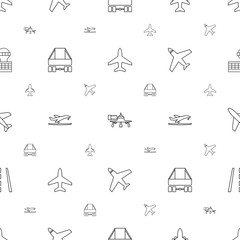 jet icons pattern seamless white background