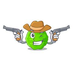 Cowboy kaffir lime basket of vegetable mascot