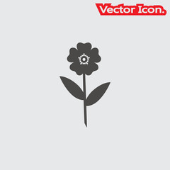 Flowers icon isolated sign symbol and flat style for app, web and digital design. Vector illustration.