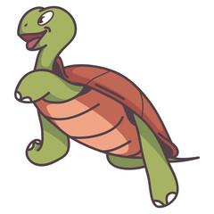 walking turtle cartoon