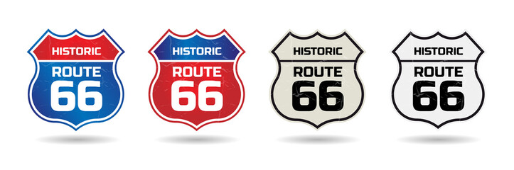 Historic route 66 shield