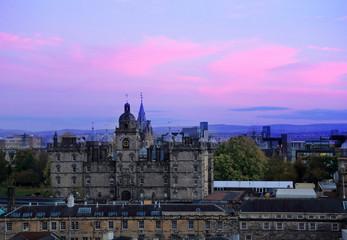 Edinburgh, Scotland. Cityscape view look from Edinburgh castle.