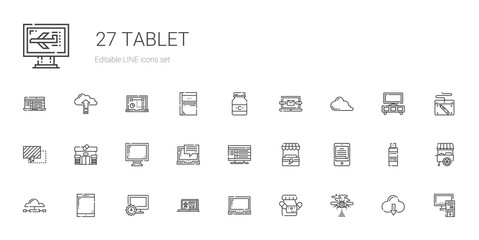 tablet icons set