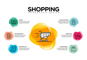 SHOPING INFOGRAPHIC CONCEPT