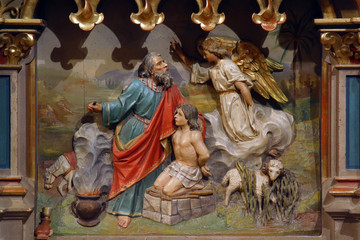Abraham Sacrificing Isaac Fotomurales