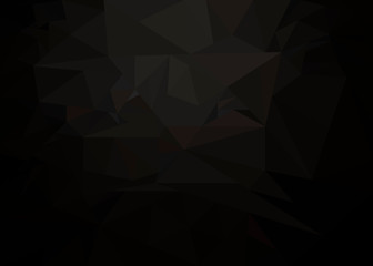 black abstract vector background with triangles