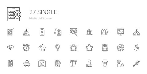 single icons set