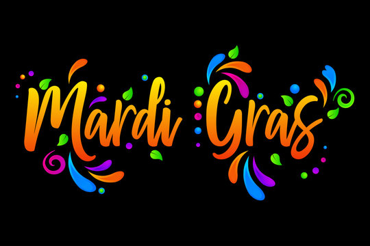Mardi Gras vector isolated illustration on black background