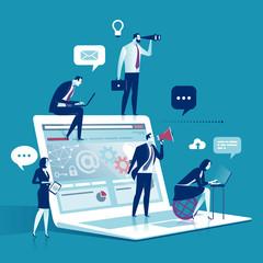 Web development concept illustration
