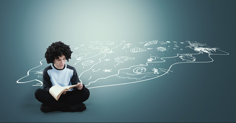 Imagination and creativity concept