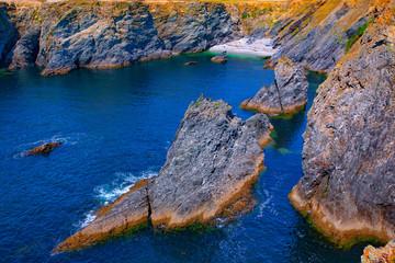 france; brittany,belle-île-en-mer  island  : creek