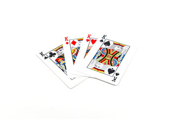 poker of kings Isolated on white background