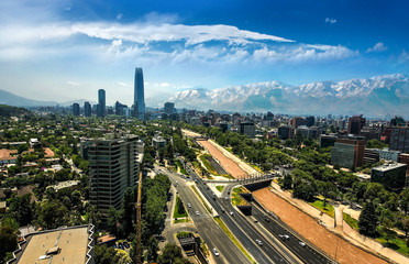 Fototapete - Costanera Center - Santiago - Chile