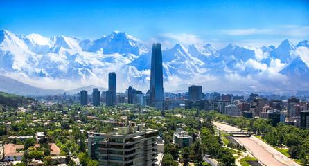 Santiago Chile cityscape Fototapete