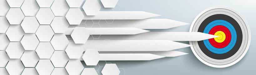 Hexagons Structure Arrows Classic Target Header Wall mural