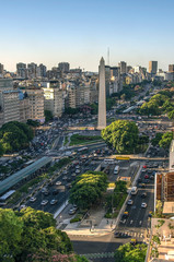 Wall Mural - Obelisco de Buenos Aires (Obelisk), historic monument and icon of city