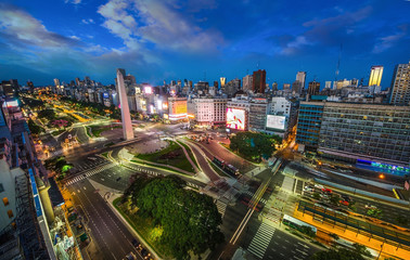 Foto op Plexiglas Buenos Aires Buenos-Aires city Night high difinition