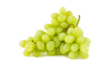 Grape branch laying isolated on white background