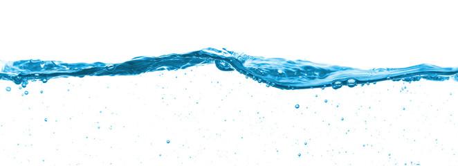 Fotoväggar - Blue water split line on white background