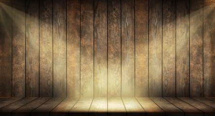 Fotoväggar - Old dark wooden planks background