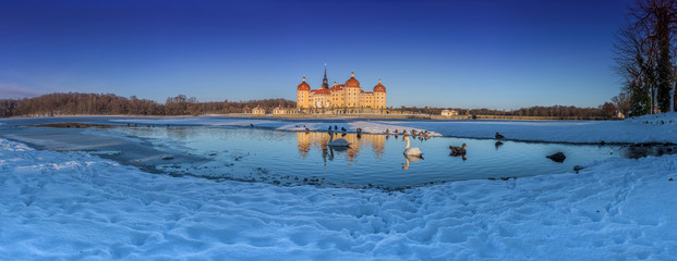 Moritzburg Schloss im Winter