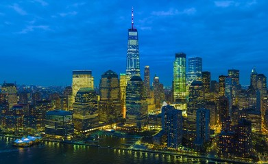 New York City, is a picture of the top of one of the beautiful towers