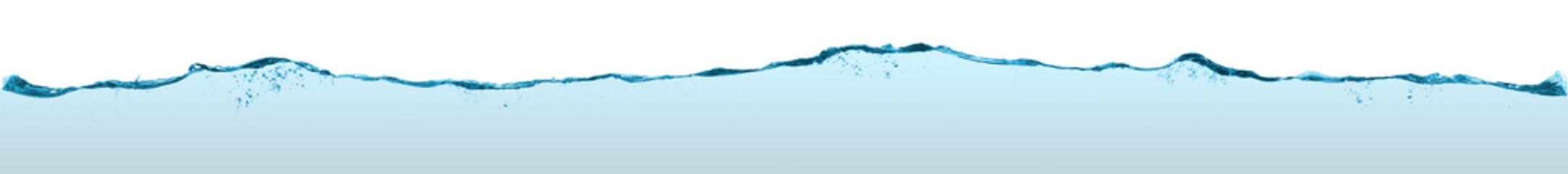 Fotoväggar - Long blue water split line