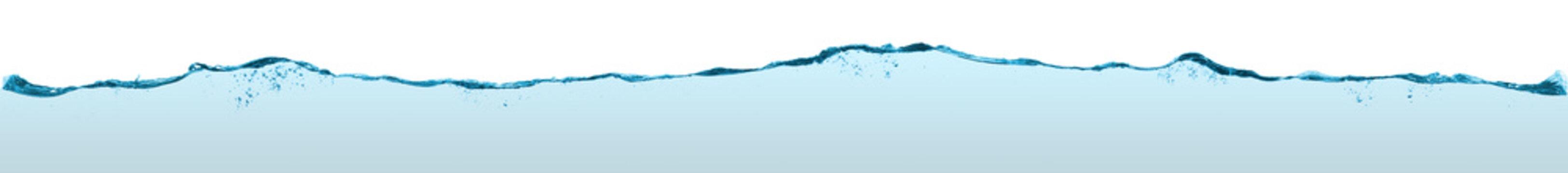 Long blue water split line