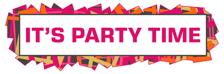 Its Party Time Pink Orange Grey Texture Cutout