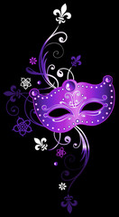 Karneval Venezianische Maske Fleur De Lis Mardi Gras Lila