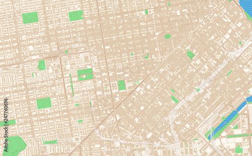 San Francisco California printable map excerpt\