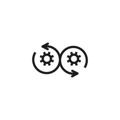 Agile development line icon