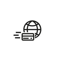 Money transfer line icon