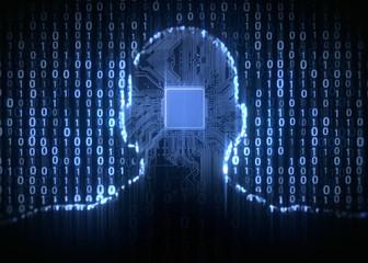 Obraz Künstliche Intelligenz - Rechenleistung, Datenverarbeitung - fototapety do salonu