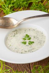 frische Kerbelsuppe