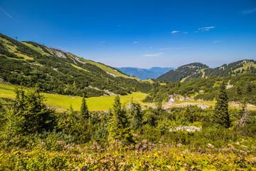 Der Berg Hochkar in Göstlinger Alpen im Sommer, Mostviertel, Niederösterreich, Österreich,