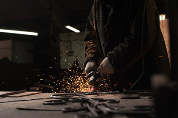 Close-up - Blacksmith Working Process.