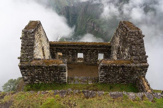 Inca ruins at Machu Piccu in Peru