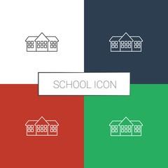school icon white background