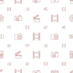 film icons pattern seamless white background