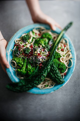 Palm Cabbage Broccoli Noodle Salade