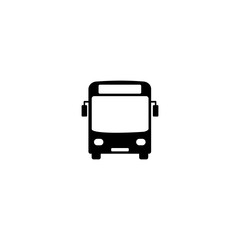 black bus icon