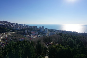 Sochi view of the city and the sea